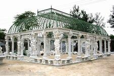 Gartenlaube aus Naturstein, Pavillon, Gartenhaus, Gartenpavillon mit Statuen