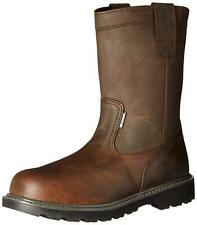 Wolverine Mens Floorhand Leather Soft toe Pull On Safety, Dark Brown, Size 11.0