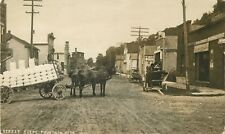 Street Scene, Fountain City, Big Jo Sacks Displayed On Wagon, Wisconsin WI RPPC