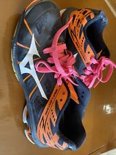 Black And Orange Mizuno Wave Lightning Women's Volleyball Shoes - Size 8