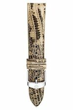 NEW MICHELE 16MM  LIZARD SKIN WATCH BAND WITH SILVER TONE BUCKLE MS16AA030994