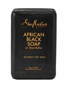 Shea Moisture African Black Soap Bar with Shea Butter, 8oz