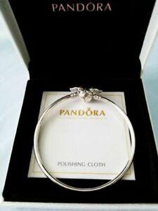 Genuine PANDORA Harry Potter Golden Snitch Sterling Silver Clasp Bangle Bracelet