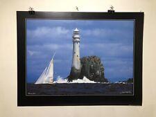 FINE ART LITHOGRAPH: Fastnet Lighthouse By Jacques Vapilloy. 23.5 X 31.5