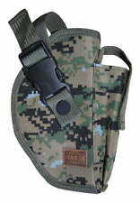 Deluxe Commando Woodland Digital Right Belt Pistol Holster BB Gun Tactical 218WR