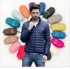 Men's Ultralight White Duck Down Puffer Parka Jacket Soft Fabric SIZE: S-4XL