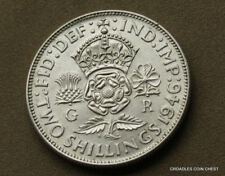 UNITED KINGDOM 1946 SILVER FLORIN TWO SHILLING UNCIRCULATED  WORLD COIN #PTJ20