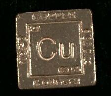 5 oz. COPPER CUBE  1 Inch Square .999 Fine  ELEMENTAL DESIGN