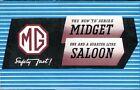 MG TD Series Midget & 11/4 Saloon original sales brochure 1950