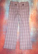 Star City Juniors 7 Plaid Flare Stretch Dress Pants Cute Multicolor London Style