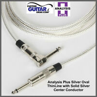 Analysis Plus 15ft SILVER Oval ThinLine Guitar/Bass Cable - Straight/ANGLE