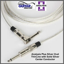 Analysis Plus 20ft SILVER Oval ThinLine Guitar/Bass Cable - Straight/Straight