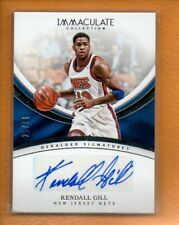 KENDALL GILL 2016-17 PANINI IMMACULATE HERALDED SIGNATURES AUTO /99