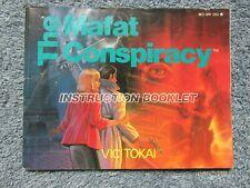 Mafat Conspiracy manual - no game .... NES Nintendo