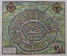 Aachen - Braun und Hogenberg - Original um 1580 - Aquisgranum, vulgo Aich..