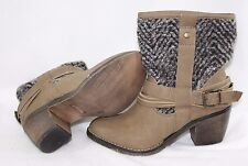 """NEW Womens LIMELIGHT Colorado Taupe Wool Look 2"""" Heels Ankle Boots Shoes"""