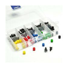 Gikfun 50Pcs 6x6x9mm Tact Tactile Push Button Momentary Micro Switch with Cap...