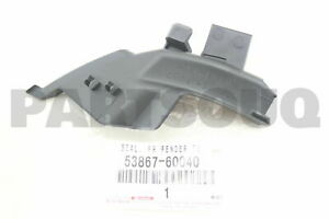 5386760040 Genuine Toyota SEAL, FRONT FENDER TO COWL SIDE, LH 53867-60040