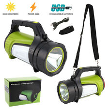 30000LM Super Bright LED Searchlight Spotlight Rechargeable Flashlight USB Torch