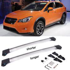 Fit 2013-17 Subaru XV Crosstrek Roof Rack Top Cross Bar Rail Silver Aluminum NEW