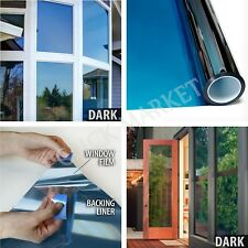 One Way Mirror Window Film Solar Heat Reflective Privacy Layer Tint 12in x 14 ft
