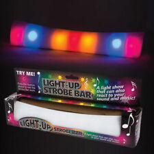 More details for light up strobe sound and music reacting bar flashing disco fun novelty toy gift