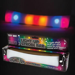 Light Up Strobe Sound And Music Reacting Bar Flashing Disco Fun Novelty Toy Gift