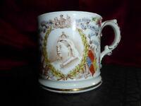 Antique QUEEN VICTORIA Diamond Jubilee 1897 HARRODS Cup - ROYAL WARE Memorabilia