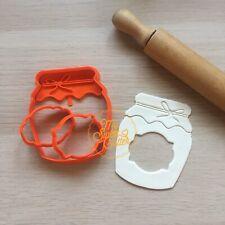 Vasetto Confettura Miele Formine Biscotti Ripieni Cookie Cutter Tag 9cm