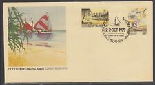 Cocos Is 1979 Christmas Sc 51-52 on Fdc