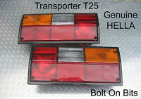 VW Transporter T25 PAIR Rear Lamp/lights Lens Van/Camper/Caravelle/Pickup HELLA