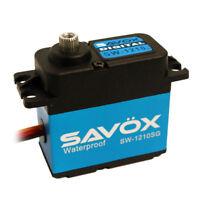 NEW Savox WATERPROOF CORELESS DIGITAL SERVO .13/319.4 ALUM CASE SAVSW1210SG NIB