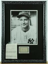 Lou Gehrig Framed Photo With Autograph Lot 422