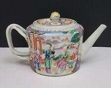 18th c Antique Chinese Export Porcelain Famille Rose Teapot