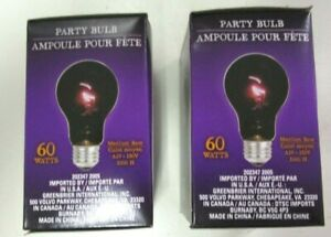 PURPLE PARTY LITE...60 WATTS..130V.. 1000 HOURS...LOT OF 2