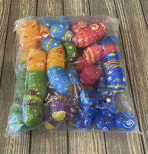 MeiGuiSha Plastic Colorful Printed Bright Easter Eggs 2.5� 84 Pieces