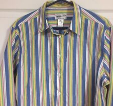 Men's Pendleton XL Striped CAREER Dress Shirt Long Sleeve Multi-Color