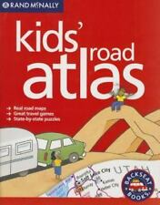 Rand McNally Kids' Road Atlas - Puzzles, Games, Real Road Maps Brand New