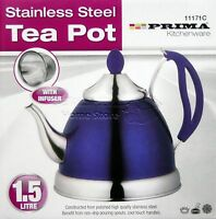1.5L INDUCTION StainlessSteel Tea Pot Kettle Camping Mint Tea Cordless 71 PURPLE