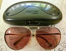 Porsche Design Sunglasses, Authentic 80's Mdl-5623, Gold/Brown, Original Case