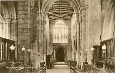 PRINTED POSTCARD OF HEMINGBROUGH CHURCH INTERIOR, (NEAR SELBY), EAST YORKSHIRE