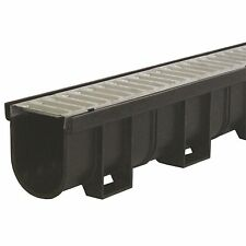 Everhard Industries EasyDRAIN 100mmx1m POLYMER CHANNEL+ GALVANISED METAL GRATE