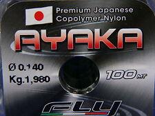 Monofilo Ayaka Fly  0,14 100m pesca trota, passata, bolognese, pesca in mare