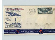 Airmail FIRST FLIGHT, FAM 18, Trans-Atlantic, New York to Marseilles, France, 19