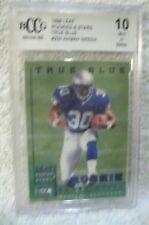 Ahman Green RC 1998 Leaf Rookies&Stars True Blue Parallel Rookie Graded BccG10!