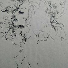 Curiosa dessin original à la plume étude nu et vieillards années 30 superbe état