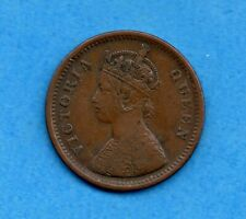 India 1862 1/2 Half Pice Coin - Circulated