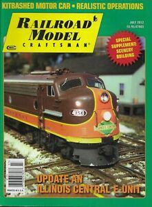 Railroad Model Craftsman Train Magazine Illinois Central Update Operations 2012