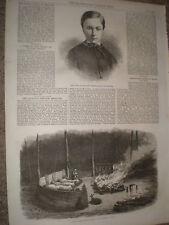 Duke of Brabant Prince Royal of Belgium 1868 old print ref W1