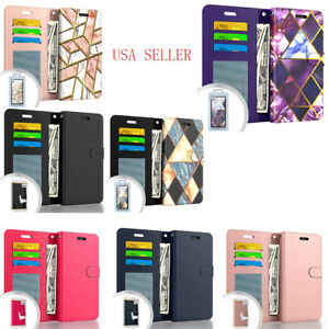 Motorola Moto One 5G Ace 2021 Leather Magnetic Flip Kickstand Wallet Case Cover